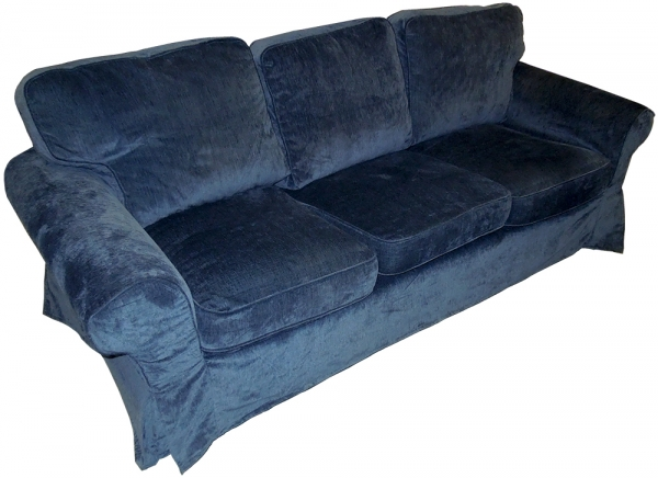 ikea ektorp pixbo bezug f r 3er bettsofa in vellinge dunkelblau ebay. Black Bedroom Furniture Sets. Home Design Ideas