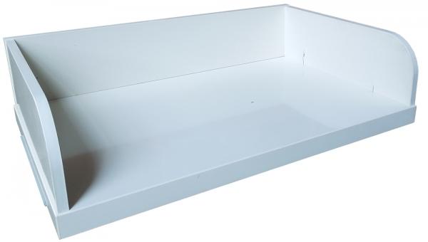 ikea stolmen regalboden mit r ckwand 55x35 5cm in wei silber ebay. Black Bedroom Furniture Sets. Home Design Ideas