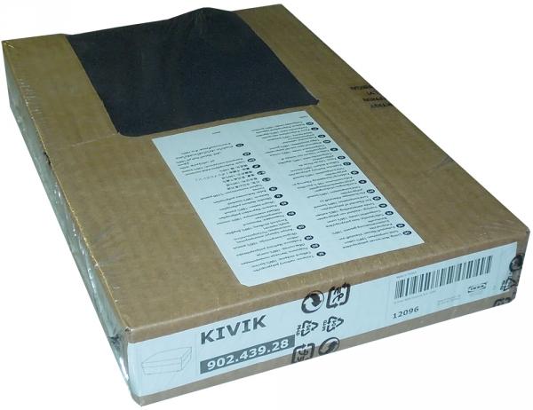 ikea kivik bezug f r hocker mit aufbewahrung in idemo schwarz ebay. Black Bedroom Furniture Sets. Home Design Ideas