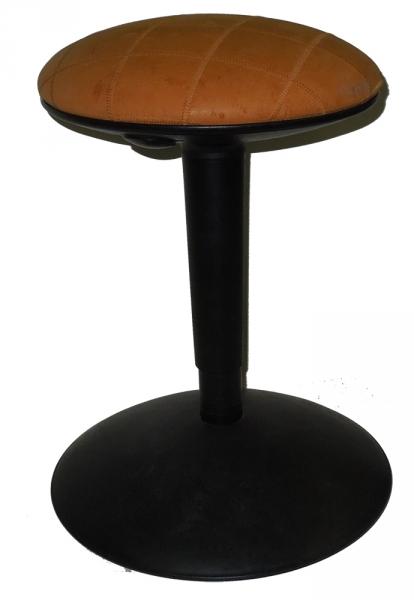 ikea vitamin polsterhocker pumphocker mit lederbezug ebay. Black Bedroom Furniture Sets. Home Design Ideas