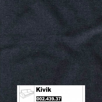 IKEA Kivik Bezug für 3er Sofa in Idemo schwarz 002.439.37