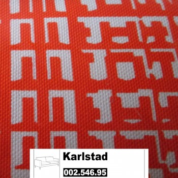 IKEA Karlstad Bezug 3er Bettsofa Husie orange 002.546.95