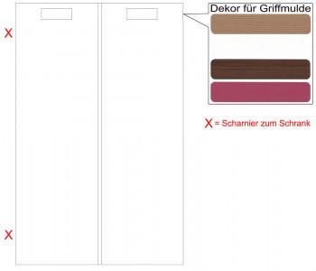 IKEA Märsta Tür Küchenfront für einen Eckunterschrank links 25x80cm weiß Griffmulde 002.972.37