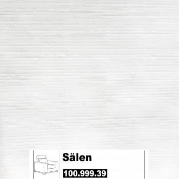 IKEA Sälen Bezug für einen Sessel in Säganäs weiß 100.999.39