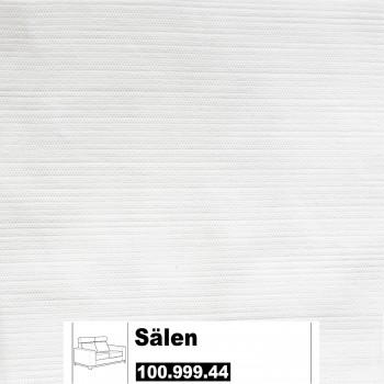 IKEA Sälen Bezug für 2er Sofa in Säganäs weiß 100.999.44