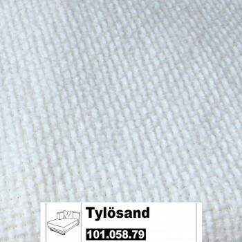 IKEA Tylösand Bezug für die Recamiere links in Rephult weiß 101.058.79
