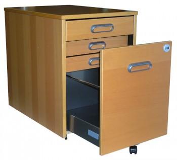 IKEA Galant, Rollcontainer mit 4 Schubladen in Buche 101.169.67