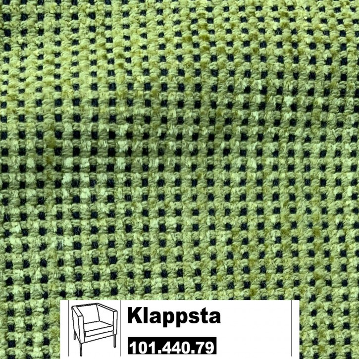 IKEA KLAPPSTA Bezug für Sessel in Sanne grün / schwarz 101.440.79