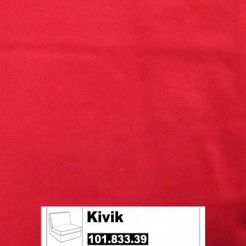 IKEA Kivik Bezug für 1er Sitzelement in Ingebo Leuchtend rot 101.833.39