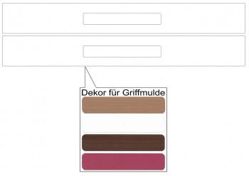 IKEA Märsta Schubladenfronten 2er 80x10cm weiß Griffmulde 102.854.32