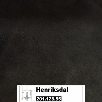 IKEA Henriksdal Bezug für einen Barhocker in Kungsvik schwarz 201.128.55