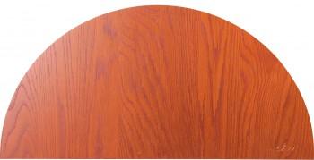 IKEA Effektiv Tisch Ansatzplatte halbrund 80x40cm goldbraun