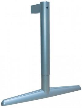 IKEA Effektiv - T Tischbein breiter Fuss silber höhenverstellbar