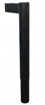 IKEA Effektiv - T Tischbein runder Fuss schwarz höhenverstellbar