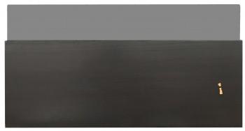 IKEA Bestå Schubladenfront mit Glas für Mediageräte 60x31 schwarzbraun