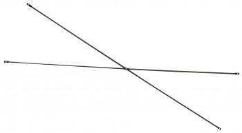 IKEA Peter Stabilisierungskreuz In Anthrazit / Dunkelgrau lackiert