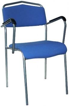 IKEA Särna Konferenzstuhl mit Armlehne silber blau