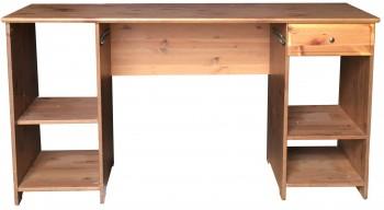 IKEA MATTEUS Schreibtisch, massive Kiefer Antikbeize 140x58cm 300.640.57