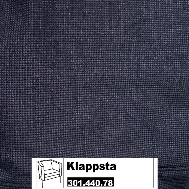 IKEA KLAPPSTA Bezug für Sessel in Sanne blau / schwarz 301.440.78