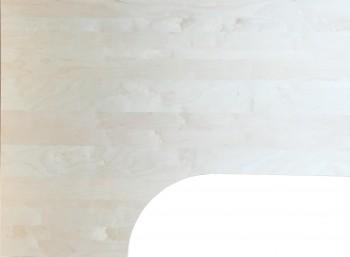 IKEA Galant Ecktischplatte / L - Form 160x80x60x120cm  - Birke 400.568.58