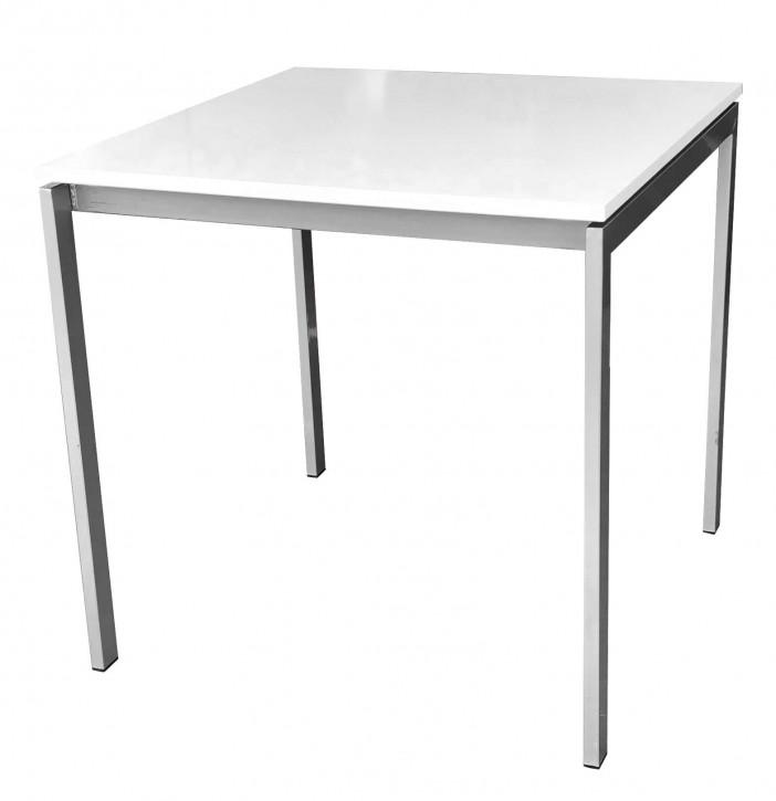 IKEA MELLA Tisch 75x75cm  - weiß grau