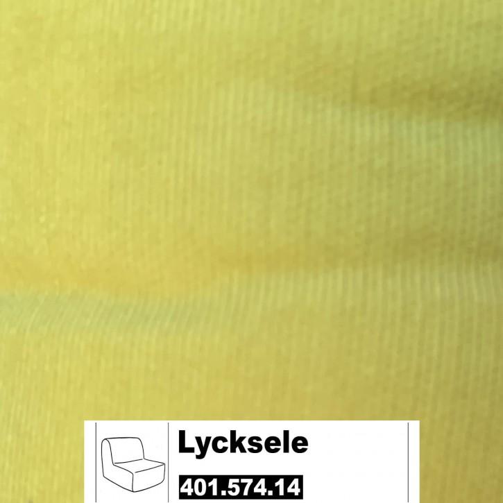 IKEA LYCKSELE Bezug für 1er Sofa in Henän gelb 401.574.14