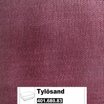 IKEA Tylösand Bezug für Hocker in Everöd dunkelrot 401.680.83