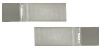 IKEA BEGRIPLIG Endstücke für Gardinenstangen 16-19mm weiß, transparent, Acryl