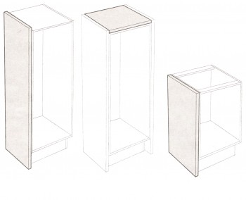 IKEA Perfekt Deckseite / Tresenplatte Hochglanz weiß 241x60x7,6cm 501.536.70