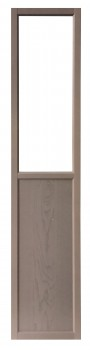 IKEA Billy Oxberg Paneel Vitrinentür hellgrau 40x192cm 503.280.24
