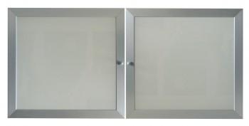 IKEA Effektiv Glastüren Aluminium/Glas - 2 Stück à 40x38cm 601.094.55 (60109455)