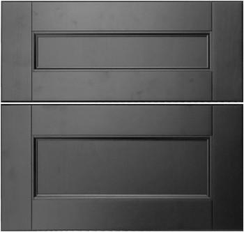 IKEA RAMSJÖ Schubladenfront 60x57cm Massive Buche in schwarzbraun 601.533.11