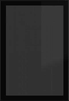 IKEA Rubrik Vitrinentür Küchenfront 60x92cm schwarz  Rauchglas 902.604.80