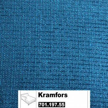 IKEA Kramfors Bezug für Recamiere Armlehne links in Myrby dunkel türkis 701.197.55
