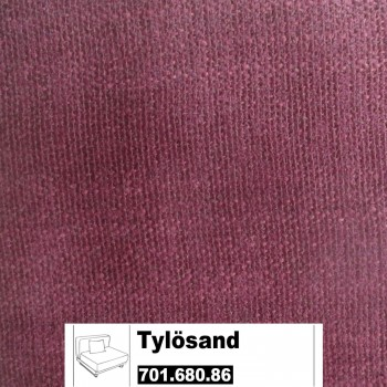 IKEA Tylösand Bezug für das 1er Sitzelement in Everöd dunkelrot 701.680.86