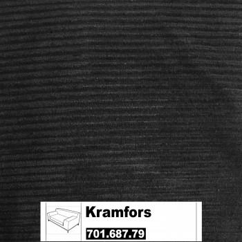 IKEA Kramfors Bezug für 2er Sofa  in Tranäs schwarz 701.687.79