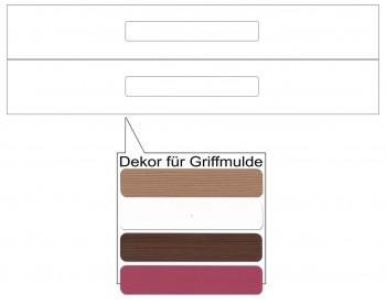 IKEA Märsta Schubladenfronten 2er 60x10cm weiß Griffmulde 702.854.29