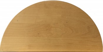 IKEA Galant Ansatz Tischplatte halbrund 40x80cm in birke 900.568.46