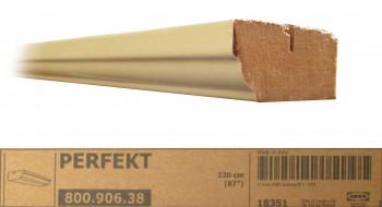 IKEA Perfekt Kranzleiste 220x6 elfenbeinweiß profiliert 800.906.38