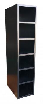IKEA PERFEKT Anbauregal schwarz 20x92cm 801.388.24 FAKTUM
