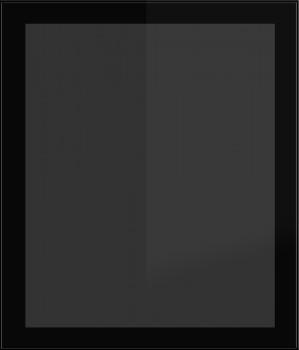 IKEA Rubrik Vitrinentür Küchenfront 60x70cm schwarz  Rauchglas 802.009.67