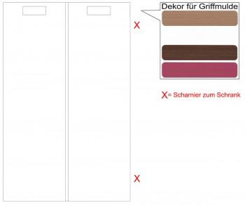IKEA Märsta Tür Küchenfront für einen Eckunterschrank rechts 25x80cm weiß Griffmulde 802.972.38