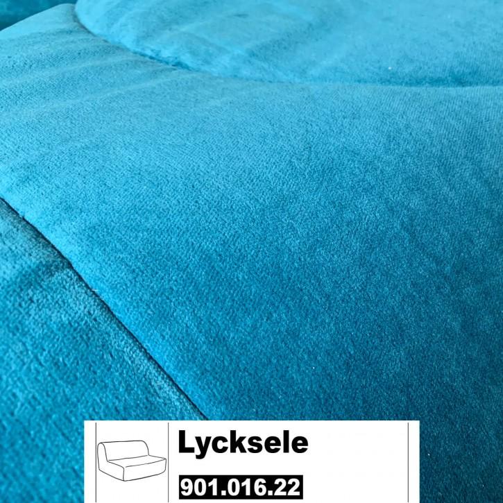 IKEA LYCKSELE Bezug für 2er Sofa in Genarp türkis 101.016.21