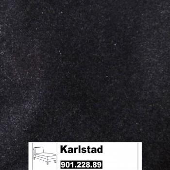 IKEA Karlstad Bezug für Recamiere (Freistehend) in Ullevi Dunkelgrau 901.228.89