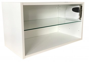 IKEA FAKTUM Wandschrank mit Glasboen & Klappscharniere 901.323.79