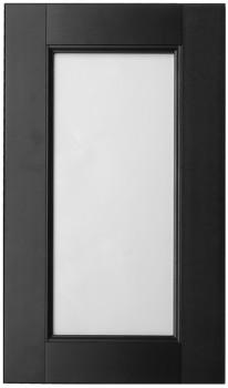 IKEA RAMSJÖ Vitrinentür 40x70cm Massive Buche in schwarzbraun 901.533.43