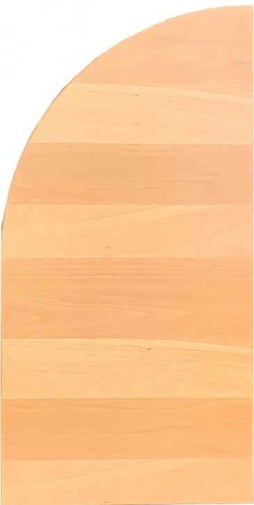 IKEA Galant Ansatz Tischplatte rechts gerundet 40x80cm in buche hell 998.437.56
