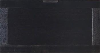 IKEA Effektiv Front für Mappenrahmen in schwarzbraun mit Eingriff