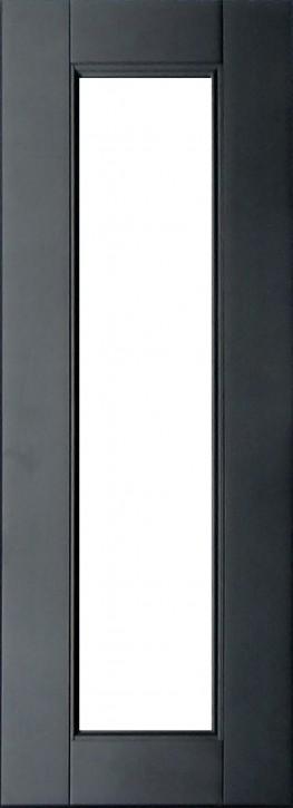 IKEA RAMSJÖ Vitrinentür Küchenfront 30x92cm Massive Buche in schwarzbraun