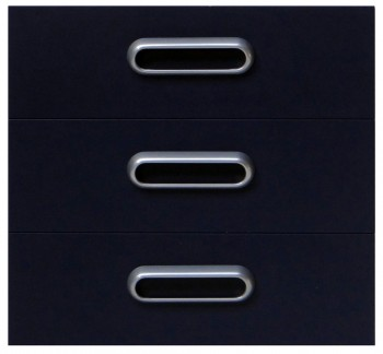 IKEA Effektiv 3x Schubladenfronten 40x38cm in dunkelblau inkl. Griffe